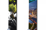 "Double Sides Retractable Banner Stand 33"" Graphic Package"