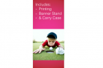 "Superior Retractable Banner Stand 24"" Graphic Package"