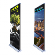 """Double Sides Retractable Banner Stand 33"""" Graphic Package"""