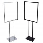 22x28 chrome black floor stand