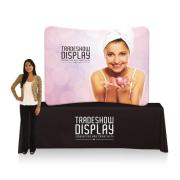 Slimline Fabric Display 6ft Curved Table Top Single Sided (Frame & Graphic)