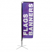 Square Flag Small Single Sided