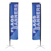 Square Flag Medium Double Sided