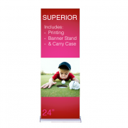 """Superior Retractable Banner Stand 24"""" Graphic Only"""