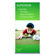 """Superior Retractable Banner Stand 36"""" Graphic"""