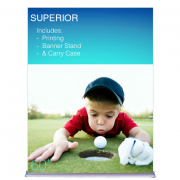 """Superior Retractable Banner Stand 60"""" Graphic"""