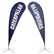 Teardrop Banner Stand Medium Single Side