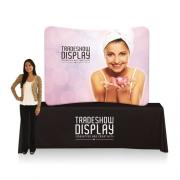 Slimline Fabric Display 6ft Curved Table Top Double Sided (Frame & Graphic)