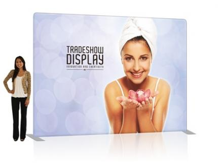 Slimline Fabric Display 10ft Straight Double Sided (Frame & Graphic)
