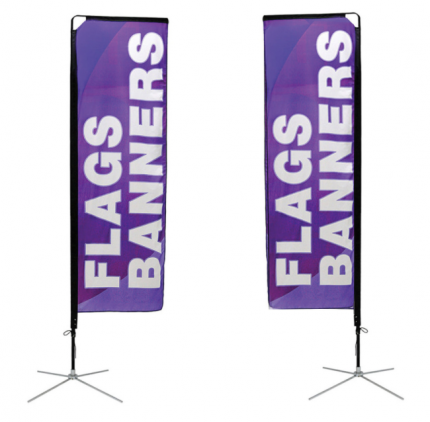 Square Flag Small Double Sided