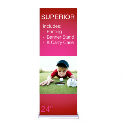 "Superior Retractable Banner Stand 24"" Graphic Only"